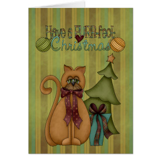 Christmas Collection Purr-fect Cat Greeting Card