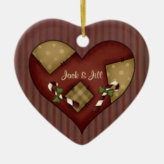 Christmas Collection Save the Date Ceramic Heart Decoration