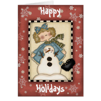 Christmas Collection Snowflakes Greeting Card