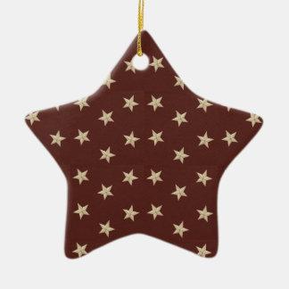 Christmas Collection Sweet Liberty Stars Ceramic Star Decoration