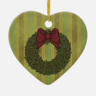 Christmas Collection Wreath Heart Tree Ornament