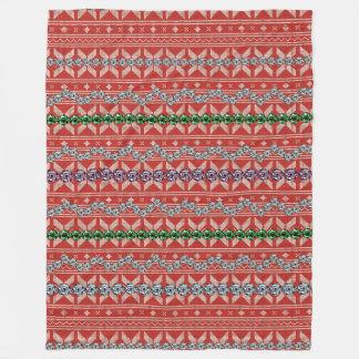 Christmas Color Diamond Fleece Blanket, Large