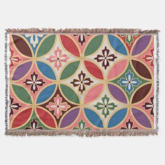 Christmas Color Geometric Pattern Throw blanket