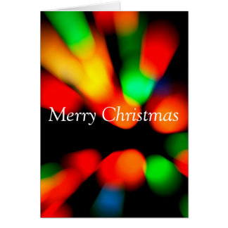 Christmas colorful blurred bokeh card