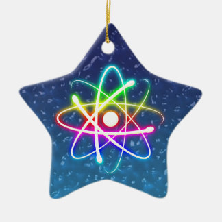 Christmas Colorful Glowing Atom Ornament
