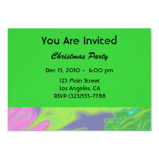 Christmas Colorful Green Blue 13 Cm X 18 Cm Invitation Card