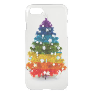 christmas, colorful, rainbow colors, advent, tree iPhone 8/7 case