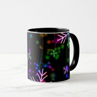 christmas, colorful, rainbow colors, advent, tree mug
