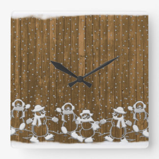 christmas, colorful, rainbow colors, advent, tree square wall clock
