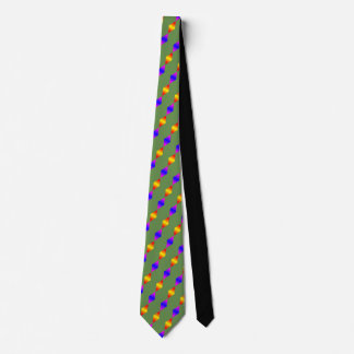 Christmas Colors Green Yellow Blue Tie