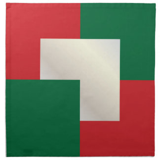 Christmas colors white gold, red, green cloth napkins