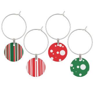 Christmas Colors Wine Charm