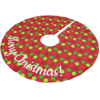 Christmas Colours Polka Dots Brushed Polyester Tree Skirt