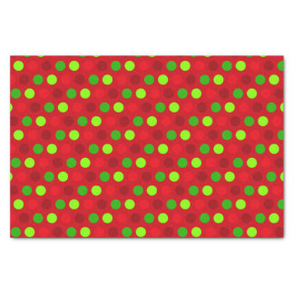 Christmas Colours Polka Dots Tissue Paper