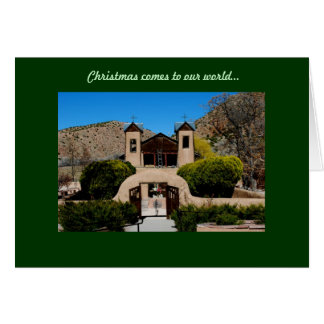 Christmas comes to our world card