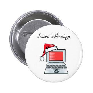 Christmas Computer Pin