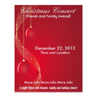 Christmas Concert Red Ornaments 21.5 Cm X 28 Cm Flyer