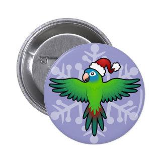Christmas Conure / Lorikeet / Parrot 6 Cm Round Badge