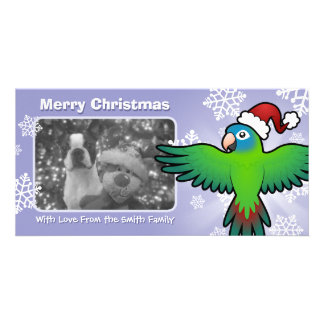 Christmas Conure / Lorikeet / Parrot Customised Photo Card
