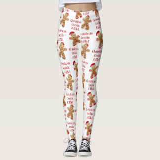 CHRISTMAS COOKIE ADDICT ~Leggings Leggings