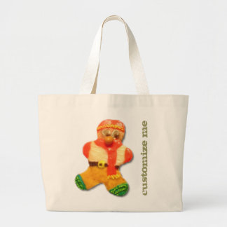 Christmas cookie CUSTOMIZABLE tote Jumbo Tote Bag