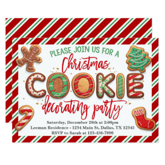 Christmas Cookie Decorating Party Invitation