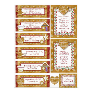 Christmas Cookie Exchange Gift Tags Personalized 21.5 Cm X 28 Cm Flyer