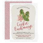 Christmas Cookie Exchange Trendy Watercolor Cookie Card