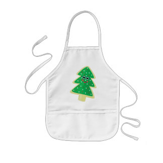 Christmas Cookie Face Kids Apron