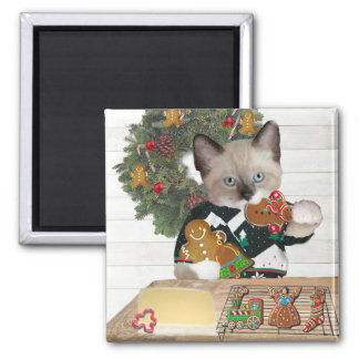 Christmas Cookie Kitten Magnet