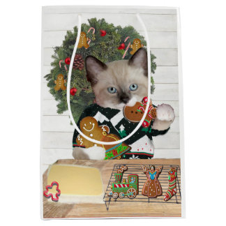 Christmas Cookie Kittens Gift Bag