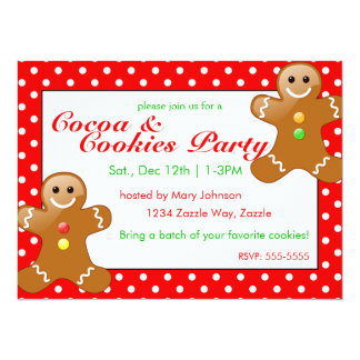 Christmas Cookie Party 14 Cm X 19 Cm Invitation Card