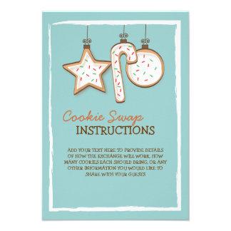 Christmas Cookie Swap Instruction Card Invitation