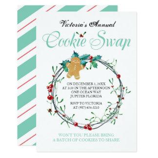 Christmas Cookie Swap Invite - Gingerbread Man