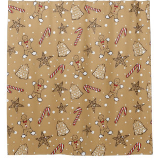 Christmas Cookies And Candy Canes Shower Curtain