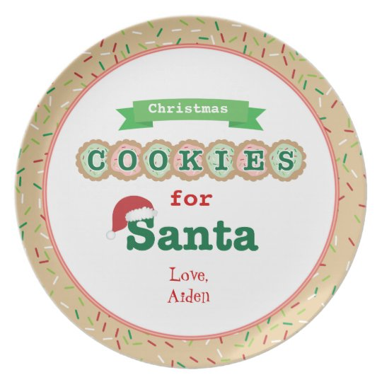 Christmas Cookies For Santa Personalised Plate