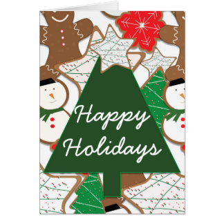 Christmas Cookies Holiday Greeting Fold Card