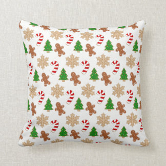 Christmas Cookies Novelty Holiday Festive Pattern Cushion