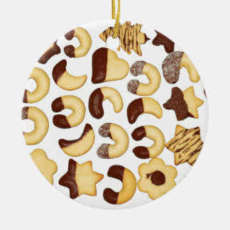 Christmas Cookies ! Round Ceramic Decoration