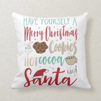 Christmas Cookies Santa Pillow