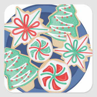 Christmas Cookies Square Sticker