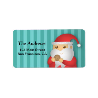 Christmas Cookies with Cute Santa for Christmas Label