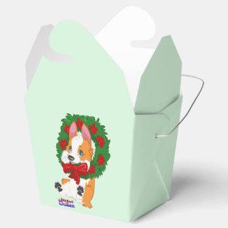 Christmas Corgi Gift Box Wedding Favour Boxes