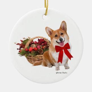 """Christmas Corgi"" Ornament"
