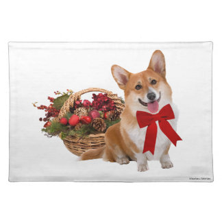 """Christmas Corgi"" Placemat"