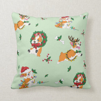 Christmas Corgis Pillow