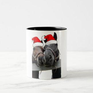 Christmas Country Horses Mugs