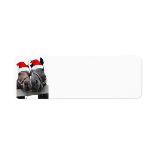 Christmas Country Horses Return Address Label