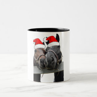 Christmas Country Horses Two-Tone Mug