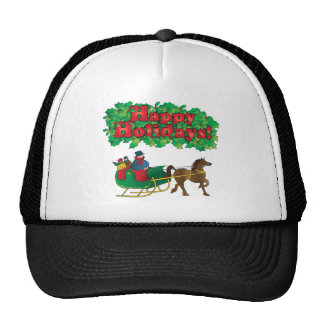 Christmas Couple in a Sleigh Trucker Hat